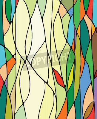 Sticker Multicolored stained glass