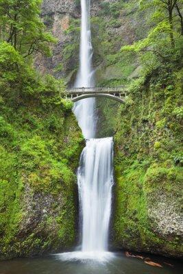 Sticker Multnomah Falls in the Columbia River Gorge, Oregon, USA