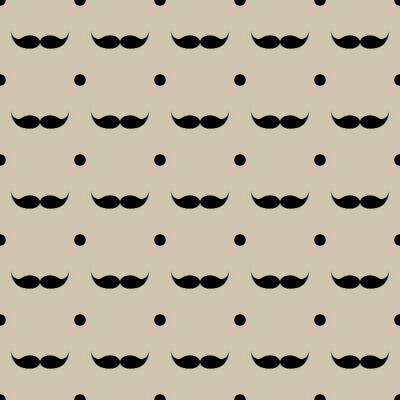 Sticker Mustache seamless pattern vector illustration eps 10