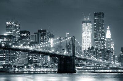 Sticker New York City Brooklyn Bridge