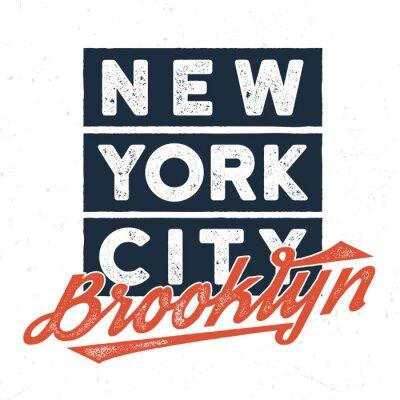 Sticker New York City Brooklyn - Tee Design For Print