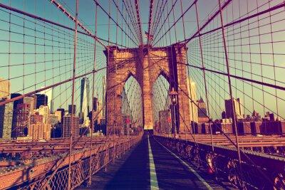 Sticker New York City from Brooklyn Bridge