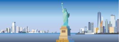 Sticker New York-city silhouette