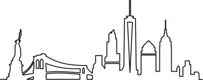 Sticker New York City Skyline