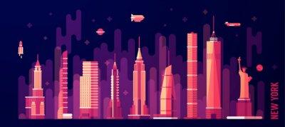 Sticker New York city skyline vector flat style