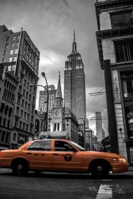 Sticker New York City street in the Evening