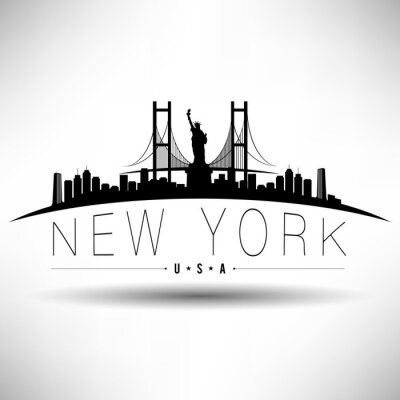 Sticker New York City Typography Design