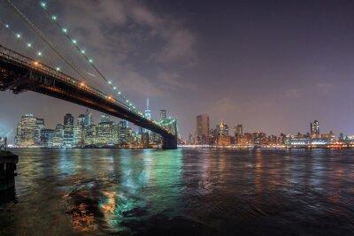 Sticker new york night view from brooklyn