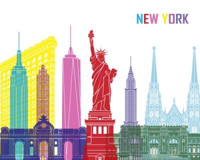 Sticker New York skyline pop