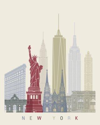 Sticker New York skyline poster