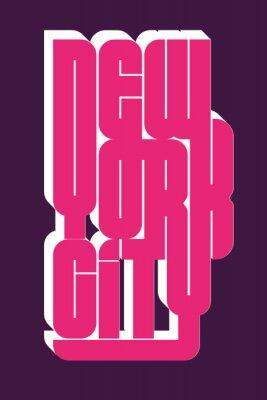 Sticker New York Sport wear typography emblem, t-shirt stamp graphics