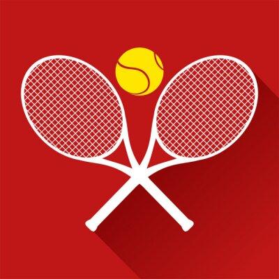 Sticker nice tennis icon