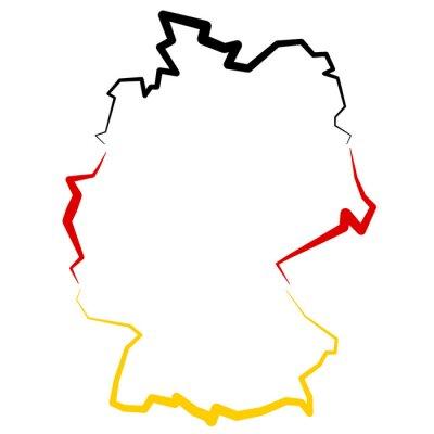 Sticker Niemcy - mapa