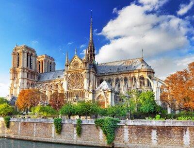 Sticker Notre Dame de Paris Cathedral.Paris. France.