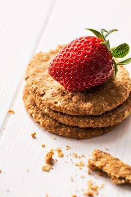 Sticker Oat cookies with kiwi jam