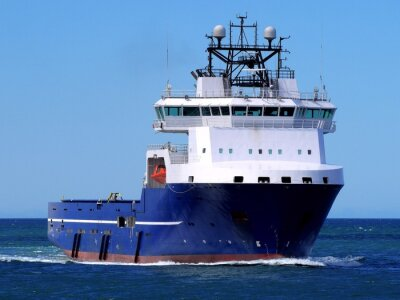 Sticker Offshore Supply Ship F, Offshore Supply Vessel underway at sea to offshore facility.