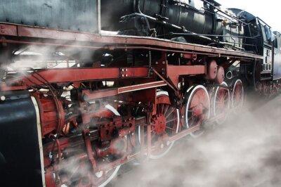 Sticker Old locomotive wheels