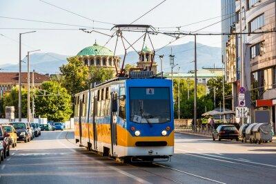Sticker Old tram in Sofia, Bulgaria