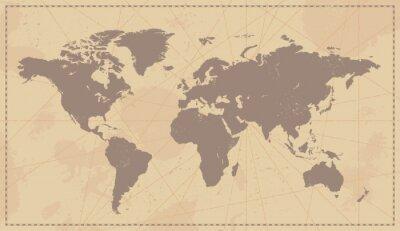 Sticker Old Vintage World Map
