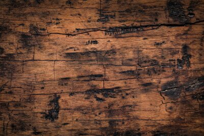 Sticker Old wood plank texture background. Natural weathered texture of wooden boards.