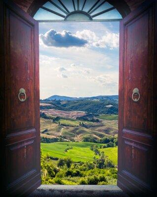 Sticker Open door and landscape