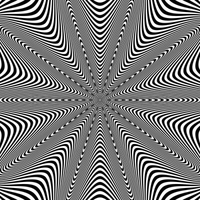 Sticker Opt Art Illustration for your design. Optical Illusion. Abstract background. Use for cards, invitation, wallpapers, pattern fills, web pages elements and etc.