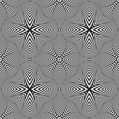 Sticker optical art abstract striped seamless deco pattern.