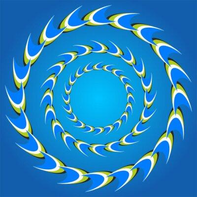 Sticker optical illusion circle tails