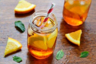Sticker Orange cold drink