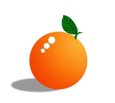 Sticker Orange fruit isolated