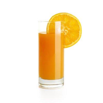 Sticker Orange Juice with slice