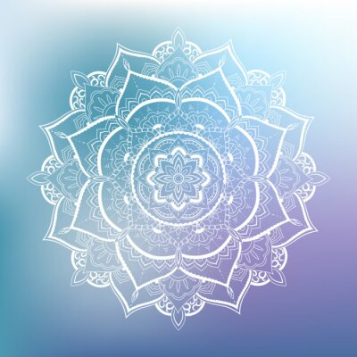 Sticker Ornamental circle pattern. Mandala