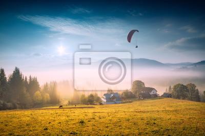 Over the Carpathian village