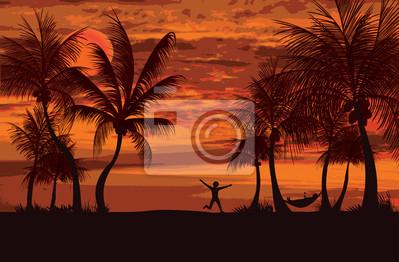 Sticker palms siesta time