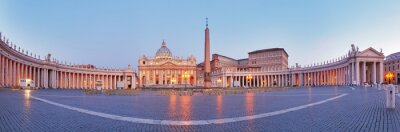 Sticker Panoramic view of Vatican city, Rome.