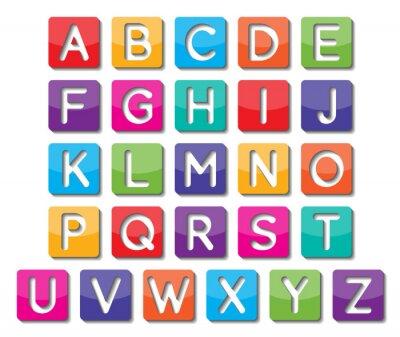 Sticker paper capital letters