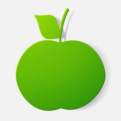 Sticker Paper clipped sticker: fruit, apple