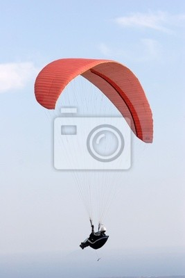 paraglider over the sky