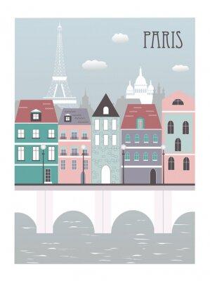 Sticker Paris city.