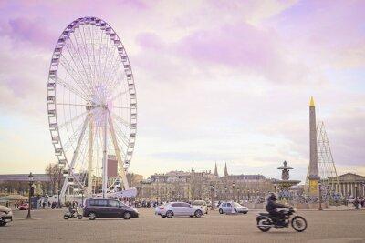 Sticker Paris, France - February 7, 2016: Ferris wheel on Place de la Concorde in Paris, France