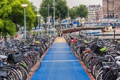 Sticker Parking for bikes in Amsterdam