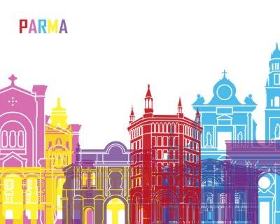 Sticker Parma skyline pop