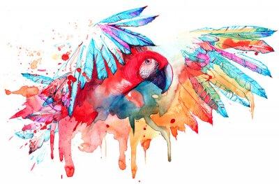 Sticker parrot