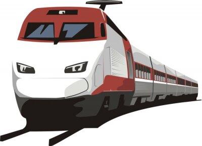 Sticker passenger train