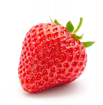 Sticker Perfect red ripe strawberry isolated