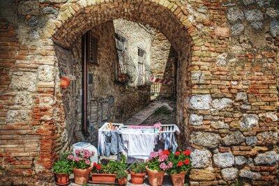Sticker picturesque corner in San Gimignano