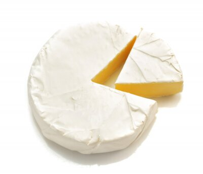 Sticker piece of cheese cheese isolated on white