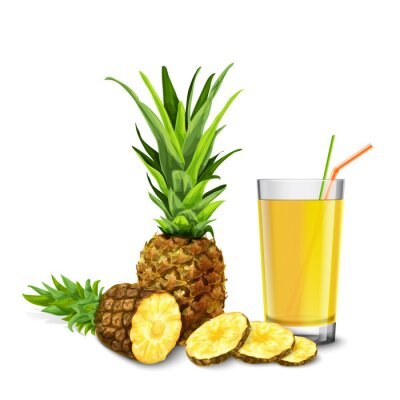 Sticker Pineapple juice glass