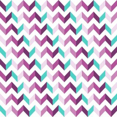 Sticker Pink Chevron Seamless Pattern