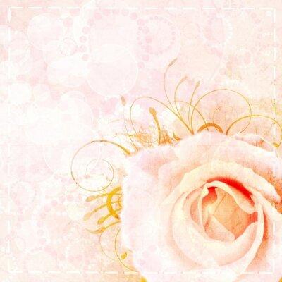 Sticker Pink  wedding background